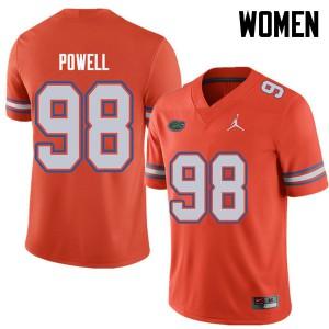 Jordan Brand Women #98 Jorge Powell Florida Gators College Football Jerseys Orange 155794-247