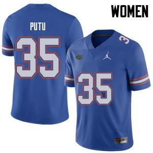 Jordan Brand Women #35 Joseph Putu Florida Gators College Football Jerseys Royal 466899-282