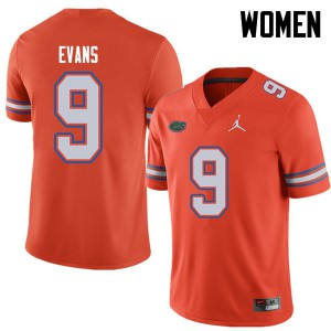 Jordan Brand Women #9 Josh Evans Florida Gators College Football Jerseys Orange 763385-728