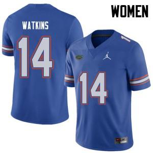 Jordan Brand Women #14 Justin Watkins Florida Gators College Football Jerseys Royal 488727-562