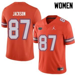 Jordan Brand Women #87 Kalif Jackson Florida Gators College Football Jerseys Orange 901578-204