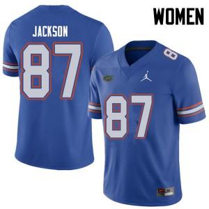 Jordan Brand Women #87 Kalif Jackson Florida Gators College Football Jerseys Royal 807918-243