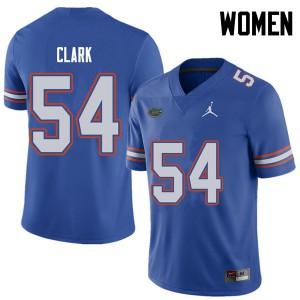 Jordan Brand Women #54 Khairi Clark Florida Gators College Football Jerseys Royal 989357-697