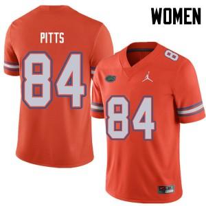 Jordan Brand Women #84 Kyle Pitts Florida Gators College Football Jerseys Orange 152267-672