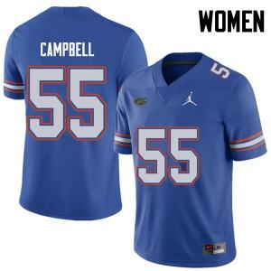 Jordan Brand Women #55 Kyree Campbell Florida Gators College Football Jerseys Royal 573753-595
