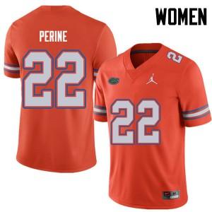 Jordan Brand Women #22 Lamical Perine Florida Gators College Football Jerseys Orange 119259-599