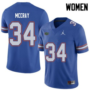 Jordan Brand Women #34 Lerentee McCray Florida Gators College Football Jerseys Royal 722755-396