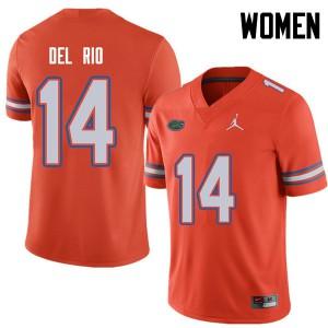 Jordan Brand Women #14 Luke Del Rio Florida Gators College Football Jerseys Orange 291458-353
