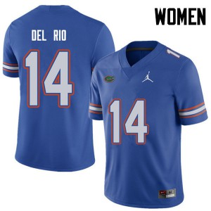 Jordan Brand Women #14 Luke Del Rio Florida Gators College Football Jerseys Royal 692466-944