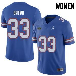 Jordan Brand Women #33 Mack Brown Florida Gators College Football Jerseys Royal 288280-852