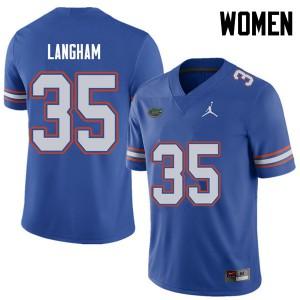 Jordan Brand Women #35 Malik Langham Florida Gators College Football Jerseys Royal 300746-161