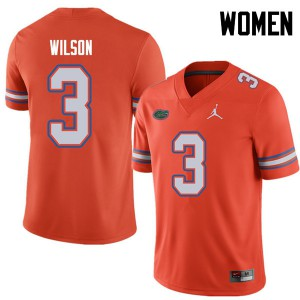 Jordan Brand Women #3 Marco Wilson Florida Gators College Football Jerseys Orange 489088-858