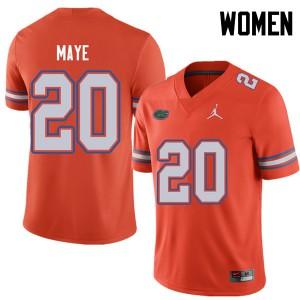Jordan Brand Women #20 Marcus Maye Florida Gators College Football Jerseys Orange 979366-720