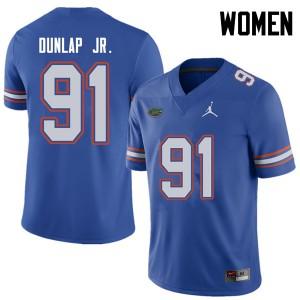 Jordan Brand Women #91 Marlon Dunlap Jr. Florida Gators College Football Jerseys Royal 576211-552