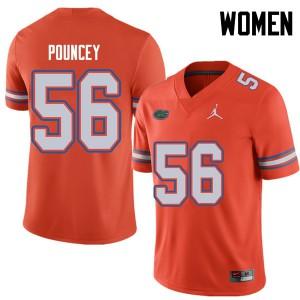 Jordan Brand Women #56 Maurkice Pouncey Florida Gators College Football Jerseys Orange 659366-850