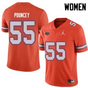 Jordan Brand Women #55 Mike Pouncey Florida Gators College Football Jerseys Orange 920755-367