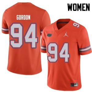 Jordan Brand Women #94 Moses Gordon Florida Gators College Football Jerseys Orange 895648-672