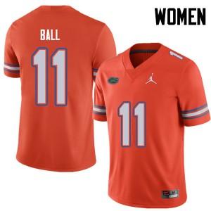 Jordan Brand Women #11 Neiron Ball Florida Gators College Football Jerseys Orange 150426-719