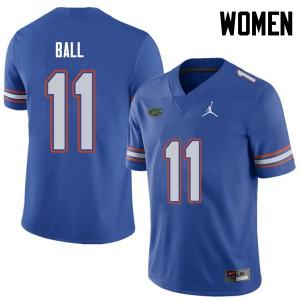 Jordan Brand Women #11 Neiron Ball Florida Gators College Football Jerseys Royal 546790-128