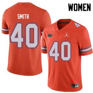 Jordan Brand Women #40 Nick Smith Florida Gators College Football Jerseys Orange 938841-330