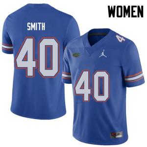 Jordan Brand Women #40 Nick Smith Florida Gators College Football Jerseys Royal 382415-430