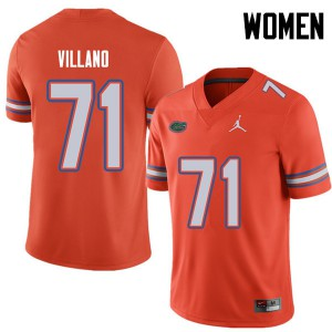 Jordan Brand Women #71 Nick Villano Florida Gators College Football Jerseys Orange 268892-765