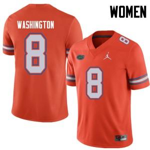 Jordan Brand Women #8 Nick Washington Florida Gators College Football Jerseys Orange 873210-545