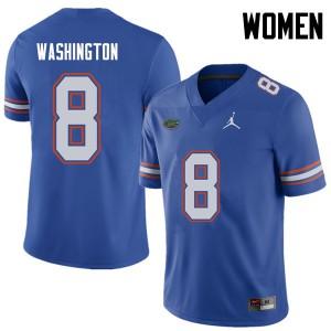 Jordan Brand Women #8 Nick Washington Florida Gators College Football Jerseys Royal 826313-843