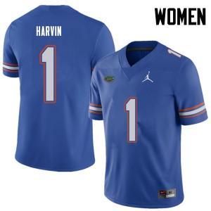 Jordan Brand Women #1 Percy Harvin Florida Gators College Football Jerseys Royal 896495-729