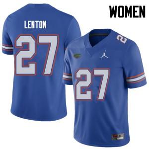 Jordan Brand Women #27 Quincy Lenton Florida Gators College Football Jerseys Royal 287394-893