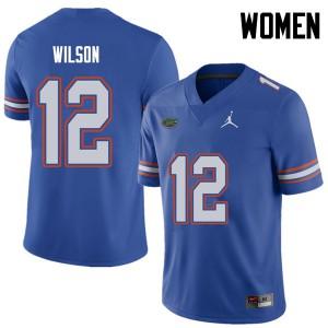 Jordan Brand Women #12 Quincy Wilson Florida Gators College Football Jerseys Royal 825480-793