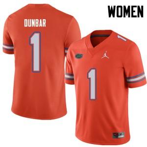 Jordan Brand Women #1 Quinton Dunbar Florida Gators College Football Jerseys Orange 215135-777