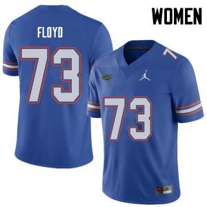 Jordan Brand Women #73 Sharrif Floyd Florida Gators College Football Jerseys Royal 993772-493