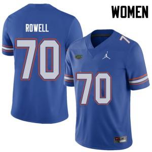Jordan Brand Women #70 Tanner Rowell Florida Gators College Football Jerseys Royal 981483-673