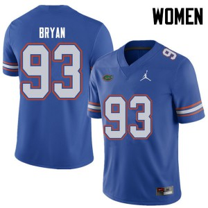 Jordan Brand Women #93 Taven Bryan Florida Gators College Football Jerseys Royal 491432-493