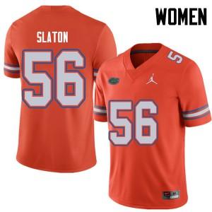 Jordan Brand Women #56 Tedarrell Slaton Florida Gators College Football Jerseys Orange 511196-152