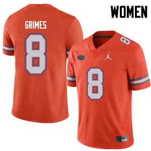 Jordan Brand Women #8 Trevon Grimes Florida Gators College Football Jerseys Orange 362165-583