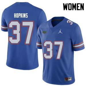 Jordan Brand Women #37 Tyriek Hopkins Florida Gators College Football Jerseys Royal 751867-256