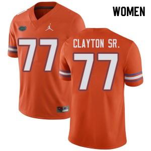 Jordan Brand Women #77 Antonneous Clayton Sr. Florida Gators College Football Jerseys Orange 307245-352