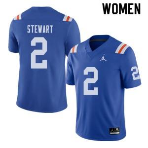 Jordan Brand Women #2 Brad Stewart Florida Gators Throwback Alternate College Football Jerseys 381369-154
