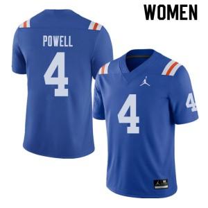 Jordan Brand Women #4 Brandon Powell Florida Gators Throwback Alternate College Football Jerseys 376346-784