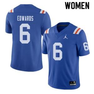 Jordan Brand Women #6 Brian Edwards Florida Gators Throwback Alternate College Football Jerseys 937639-377
