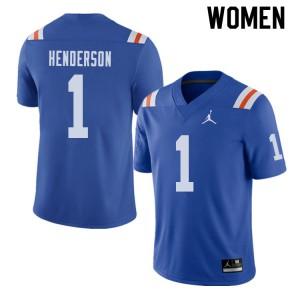 Jordan Brand Women #1 CJ Henderson Florida Gators Throwback Alternate College Football Jerseys 521942-392