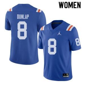 Jordan Brand Women #8 Carlos Dunlap Florida Gators Throwback Alternate College Football Jerseys 552766-972