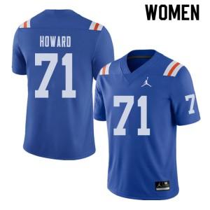 Jordan Brand Women #71 Chris Howard Florida Gators Throwback Alternate College Football Jerseys 549304-897
