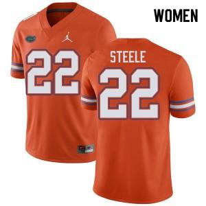 Jordan Brand Women #22 Chris Steele Florida Gators College Football Jerseys Orange 264783-375