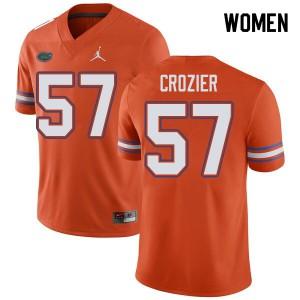 Jordan Brand Women #57 Coleman Crozier Florida Gators College Football Jerseys Orange 381497-117