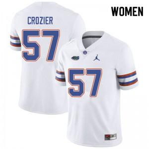 Jordan Brand Women #57 Coleman Crozier Florida Gators College Football Jerseys White 614240-381