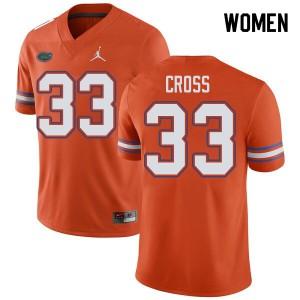 Jordan Brand Women #33 Daniel Cross Florida Gators College Football Jerseys Orange 604182-677