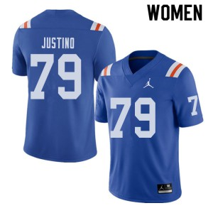 Jordan Brand Women #79 Daniel Justino Florida Gators Throwback Alternate College Football Jerseys 960397-952
